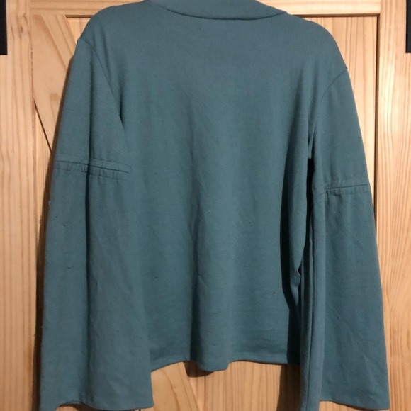 Blue Long Bell Sleeves